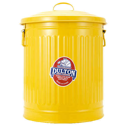 Garbage can L Yellow